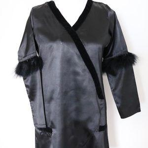 2-piece pakistani faux feather kimono set